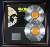 Elvis Presley - Double LP Platinum Disc with cover - Aloha From Hawaii Via Satellite